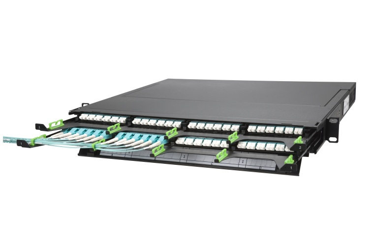 96 core Fiber optic patch panel rack mount ODF distribution box
